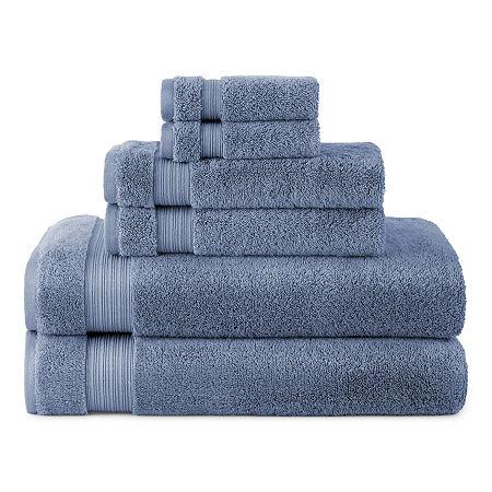 Linden Street Organic 6pc Bath Towel Set, One Size , Blue