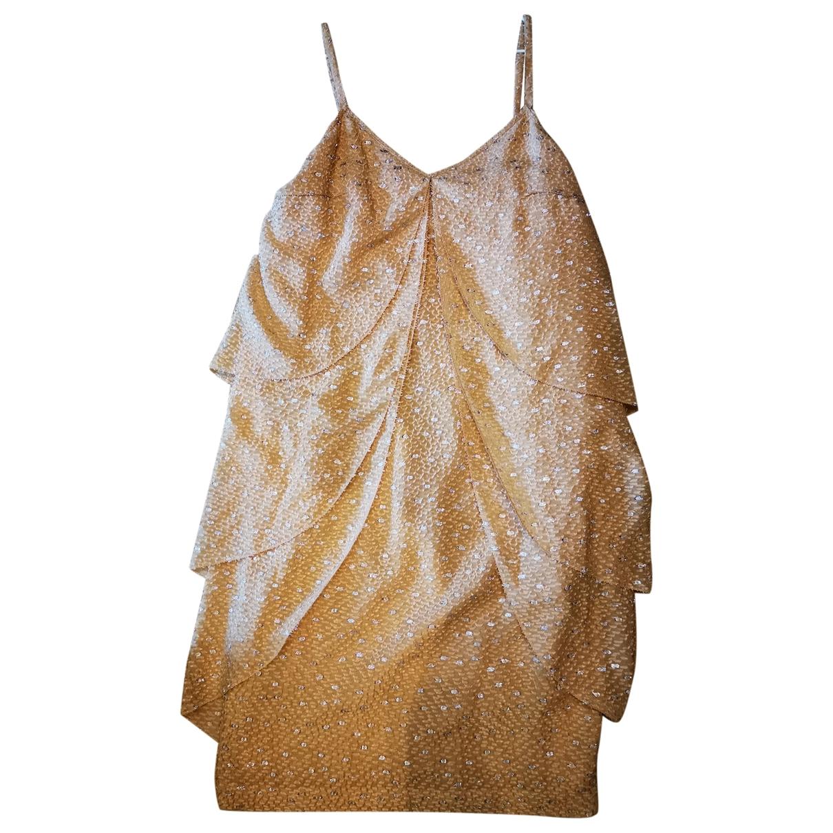 Fendi \N Kleid in  Beige Mit Pailletten