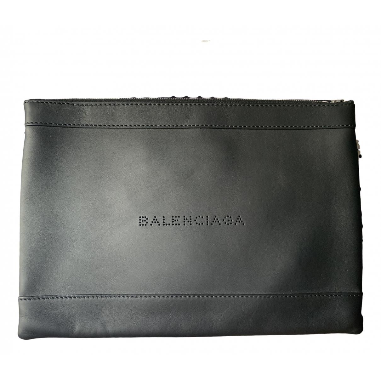 Balenciaga - Sac   pour homme en cuir - noir