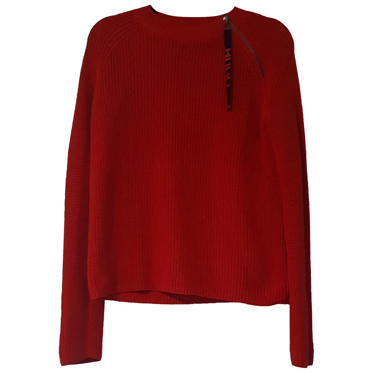 Hugo Boss - Pull   pour femme en coton - rouge