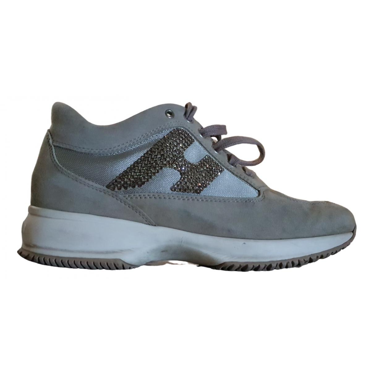 Hogan \N Sneakers in  Beige Leder