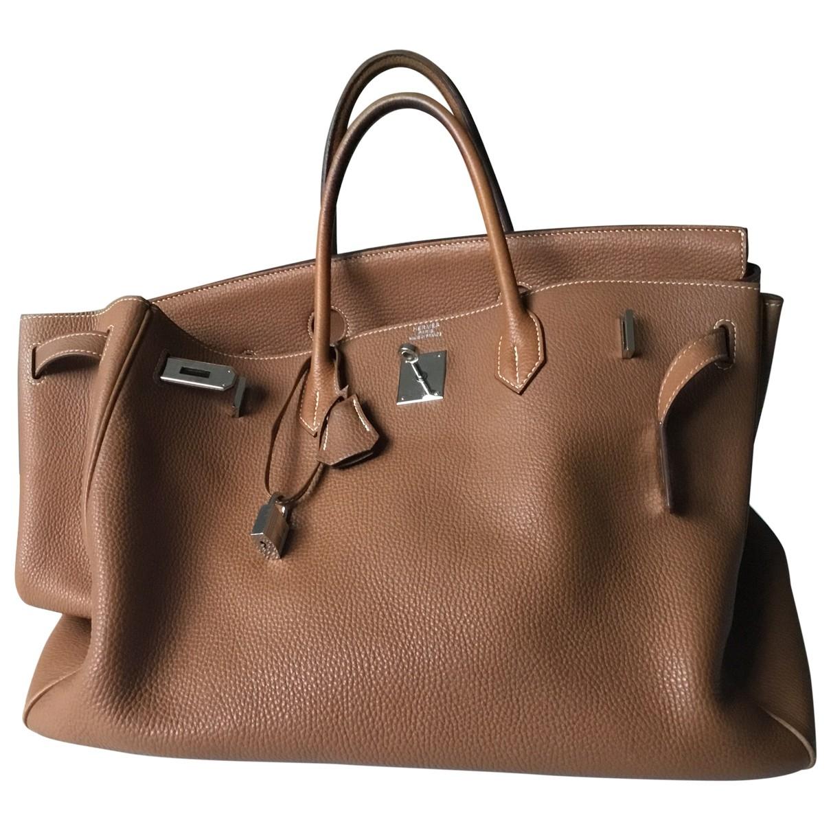 Hermès Birkin 40 Camel Leather handbag for Women \N