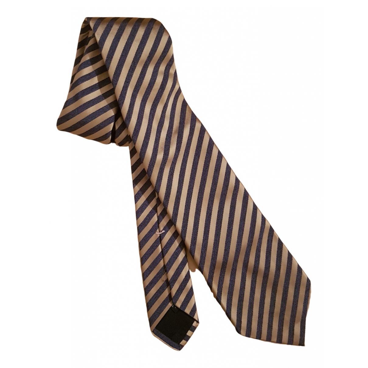 Borrelli - Cravates   pour homme en soie - camel