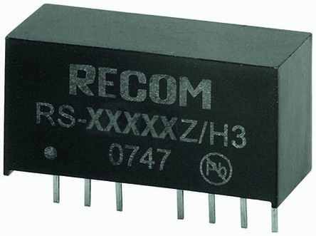 Recom RS 2W Isolated DC-DC Converter Through Hole, Voltage in 18 → 72 V dc, Voltage out 5V dc Medical Approved
