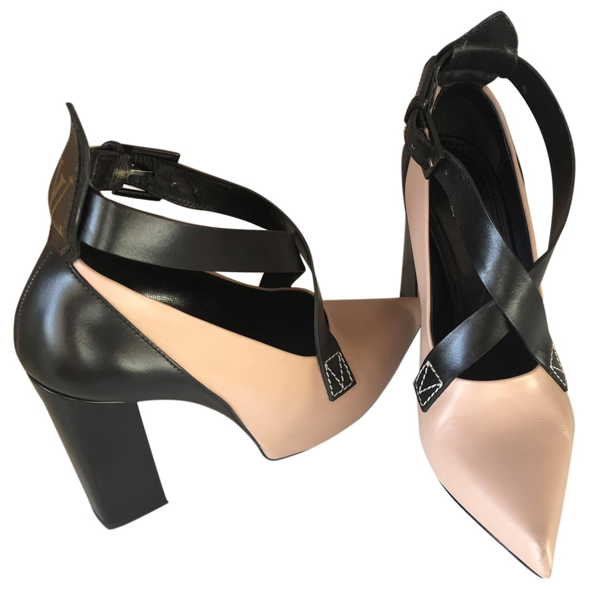 Louis Vuitton \N Pink Leather Heels for Women 37 EU