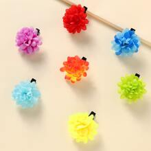 7 Stuecke Kleinkind Maedchen Haarspangen mit Blumen Dekor