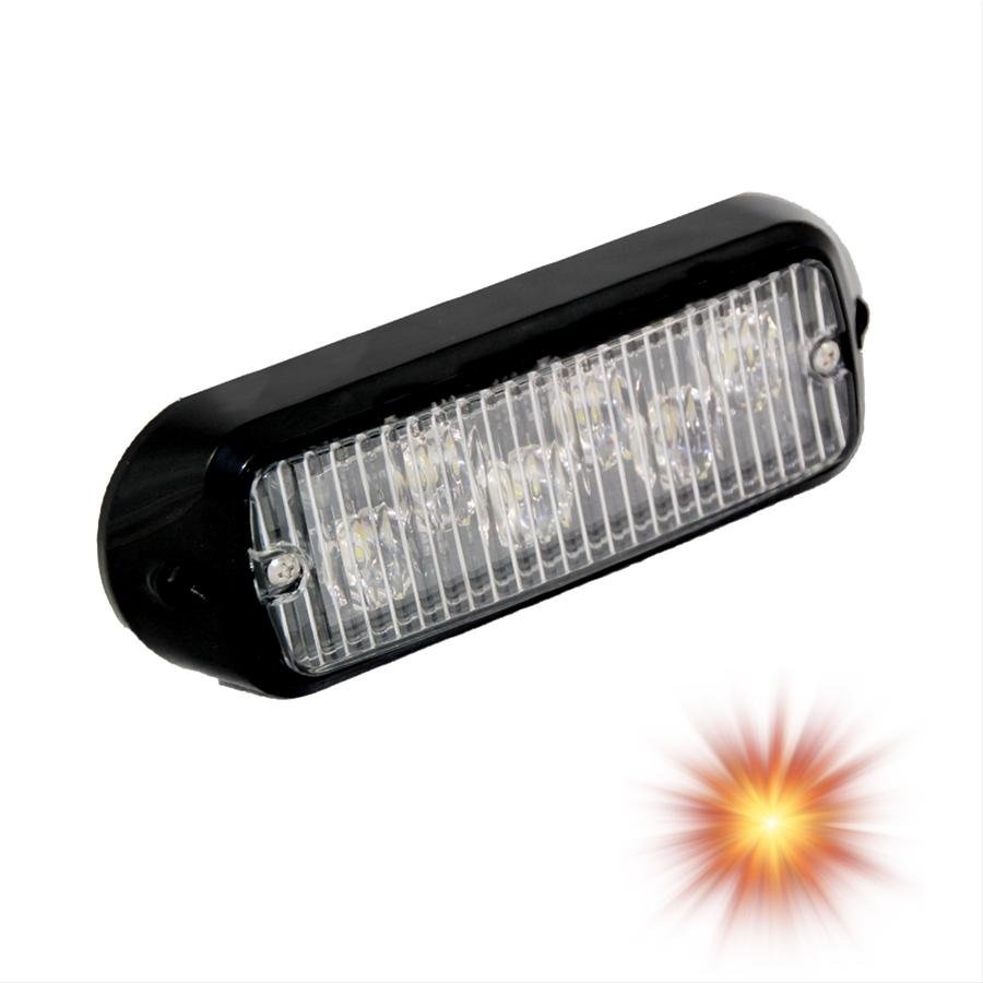 Oracle Lighting 3404-005 ORACLE 6 LED Undercover Strobe Light - Amber