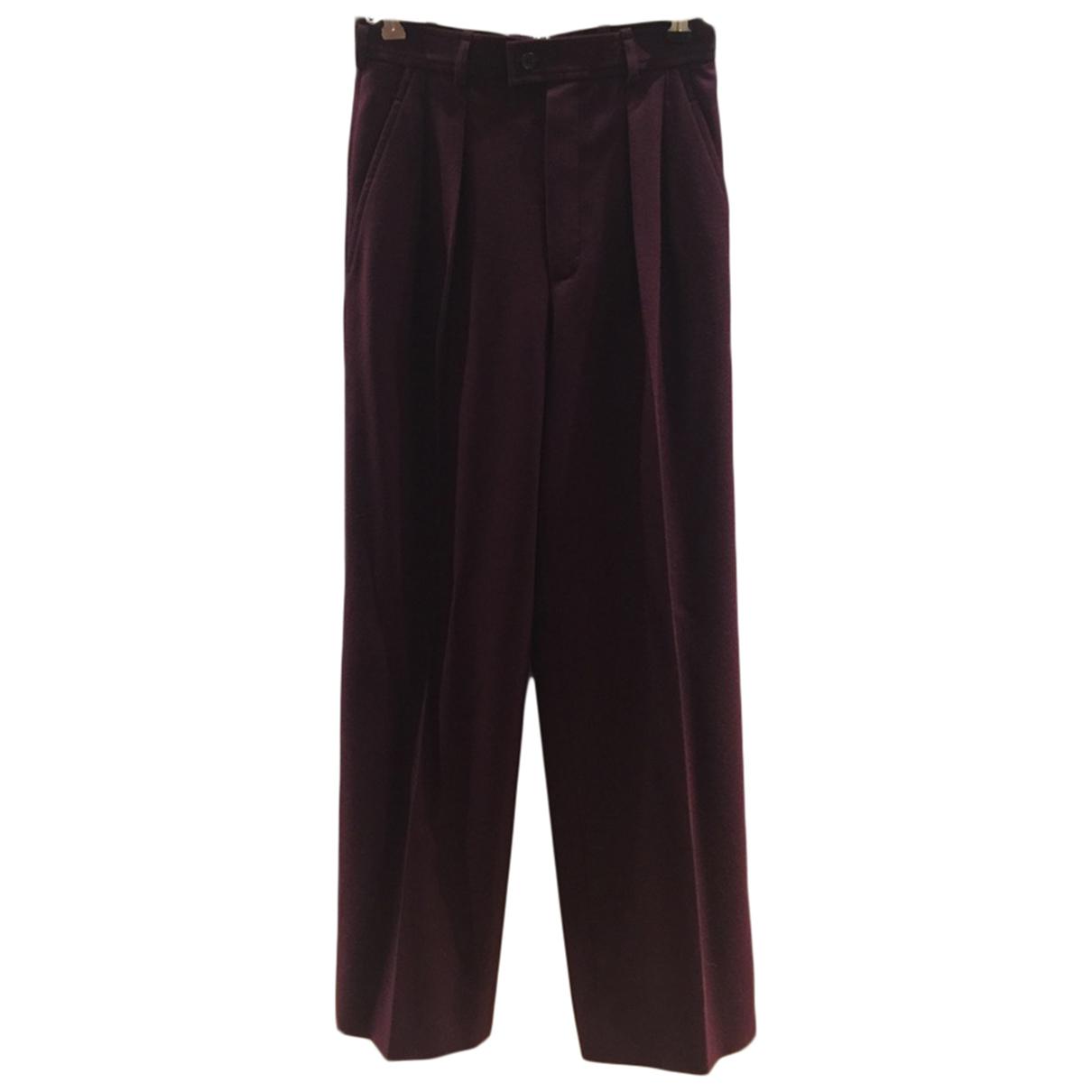 Yves Saint Laurent N Purple Wool Trousers for Women 34 FR