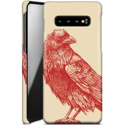 Samsung Galaxy S10 Plus Smartphone Huelle - Red Raven von Terry Fan