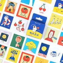 46pcs Cartoon Graphic Sticker