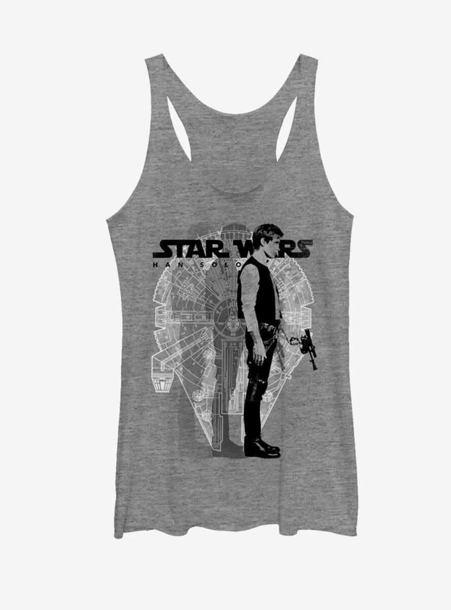 Star Wars Millennium Falcon Han Solo Womens Tank