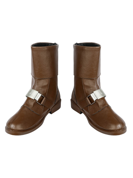 Milanoo Star Wars Jedi Fallen Order Cal Kestis Brown Shoes Cosplay Boots