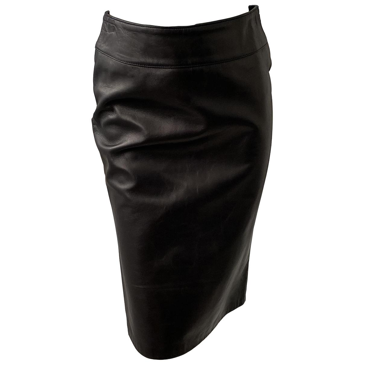 Dolce & Gabbana \N Rocke in  Schwarz Leder