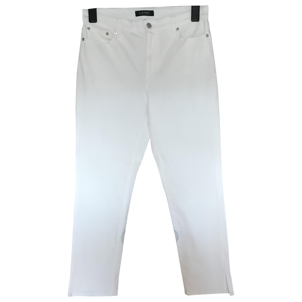Lauren Ralph Lauren N White Cotton Jeans for Women 40 FR