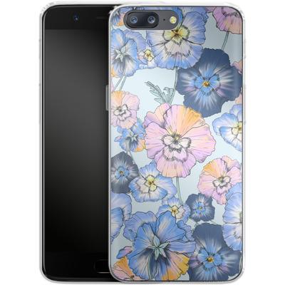 OnePlus 5 Silikon Handyhuelle - Pretty Pansy von Stephanie Breeze