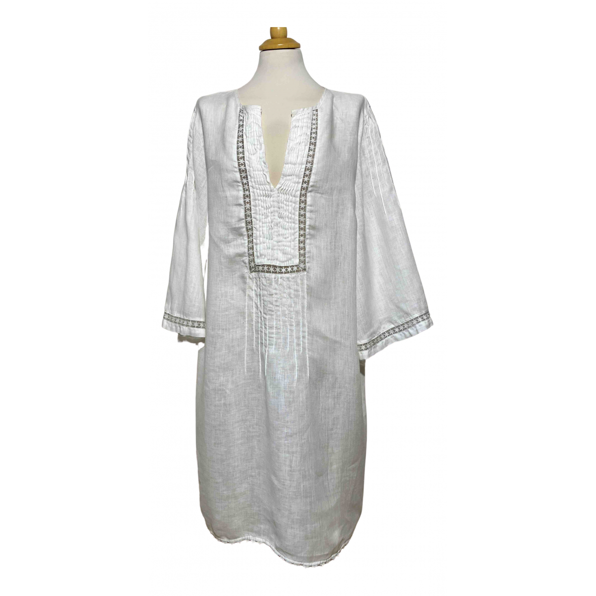 120% Lino \N White Linen dress for Women 48 IT