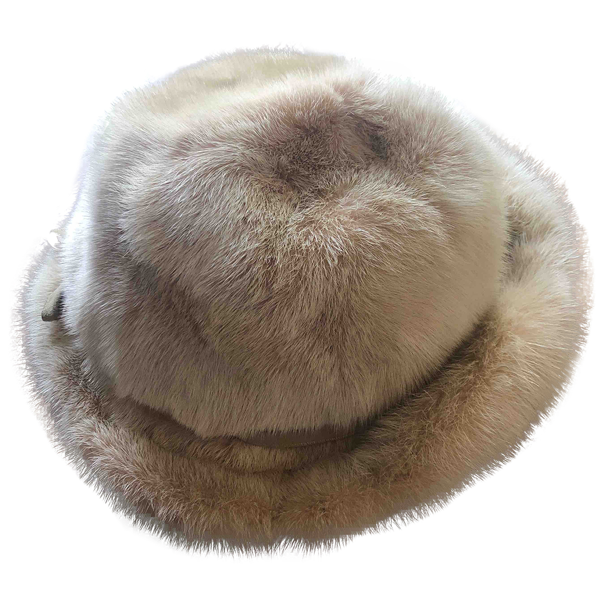 Non Signé / Unsigned \N Beige Mink hat for Women 54 cm