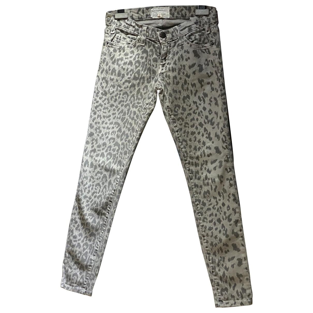 Current Elliott \N Grey Cotton - elasthane Jeans for Women 24 US