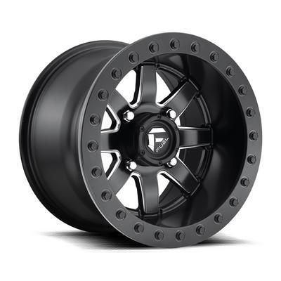 MHT Fuel Offroad Maverick D928 Beadlock, 15x10 Wheel with 4 on 136 Bolt Pattern - Matte Black - D9281500A655