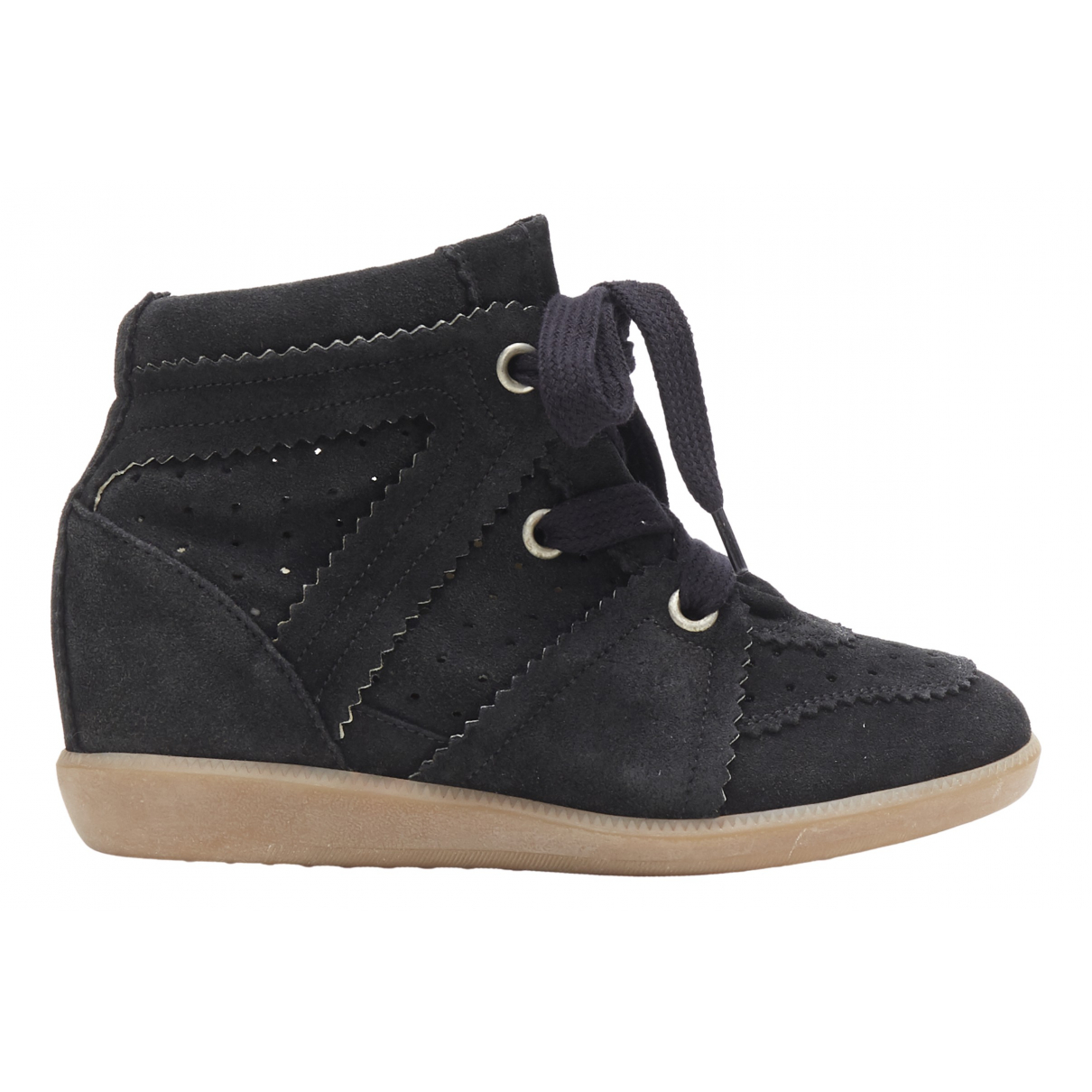 Isabel Marant Betty Black Suede Trainers for Women 37 EU