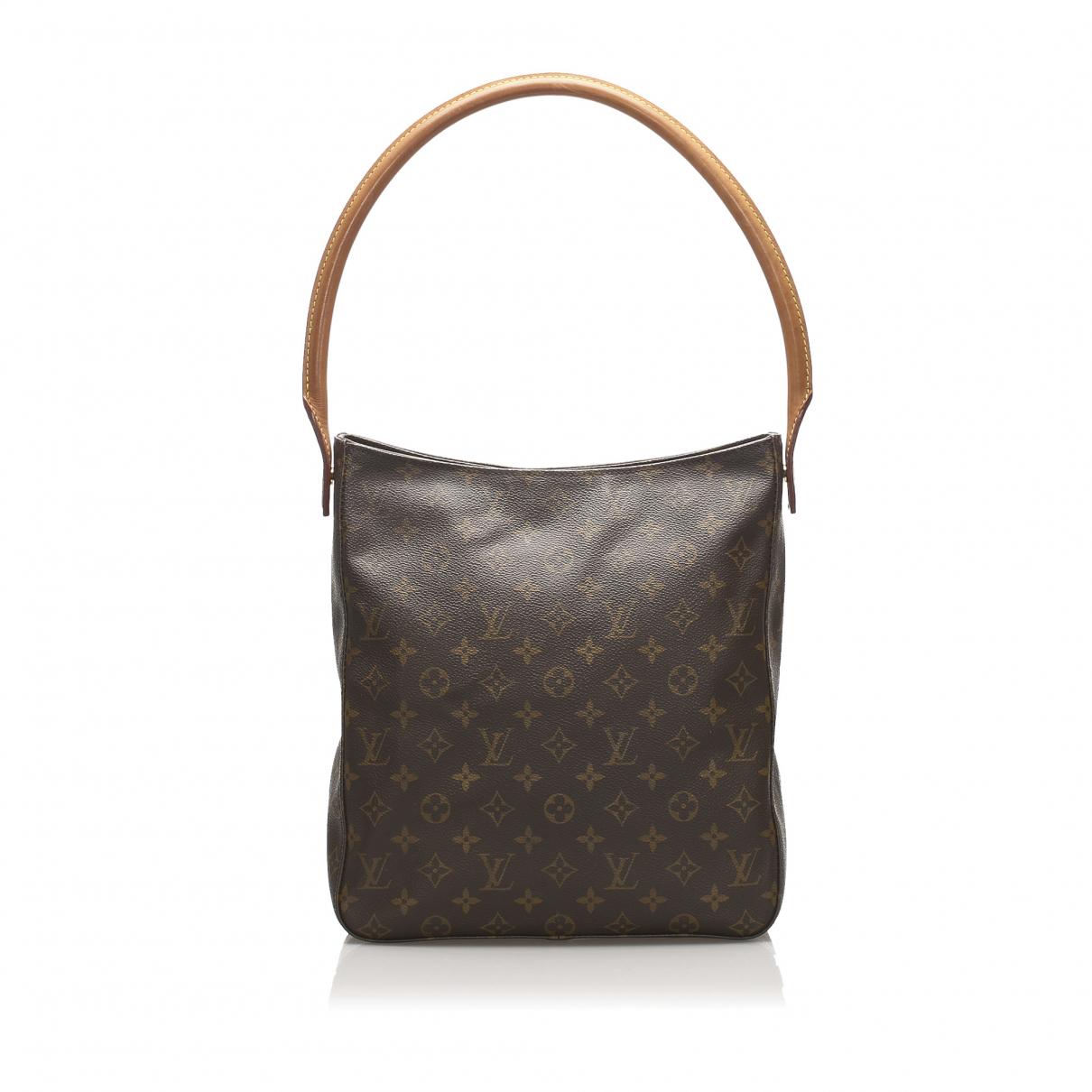 Louis Vuitton Looping Handtasche in  Braun Leinen