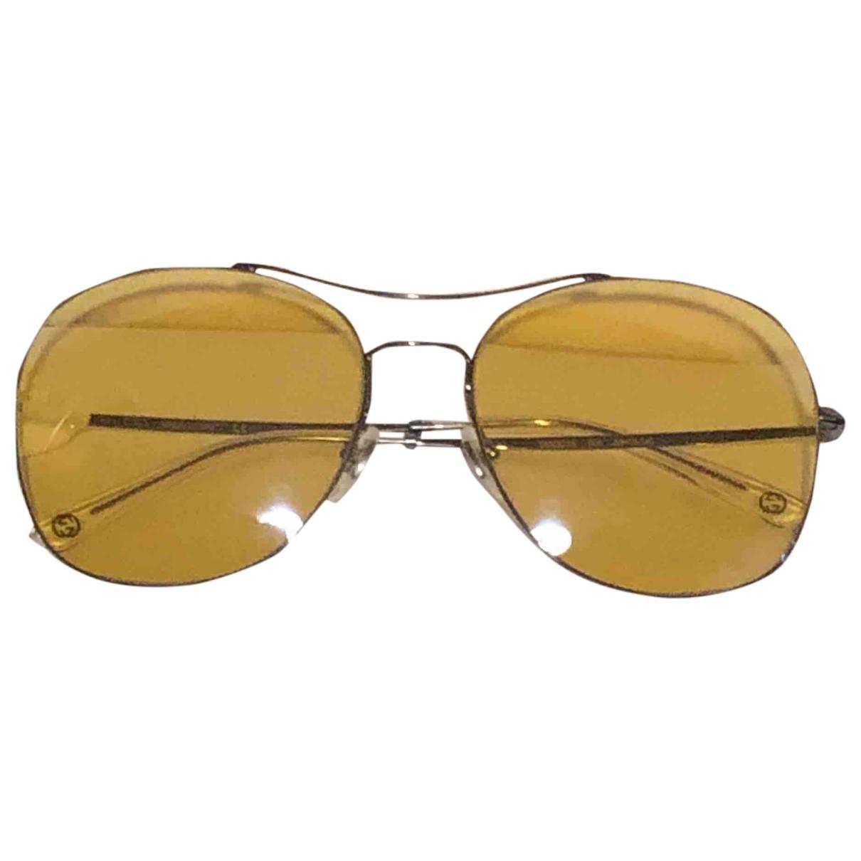 Gucci - Lunettes   pour femme en metal - jaune
