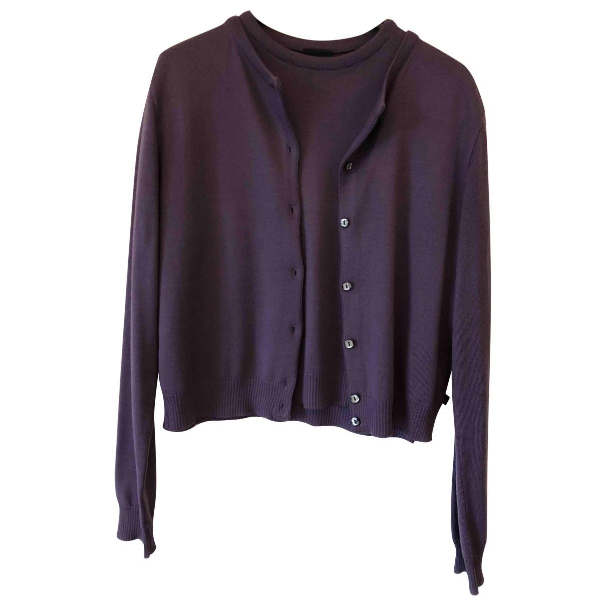 Dolce & Gabbana \N Purple Wool Knitwear for Women 40 IT