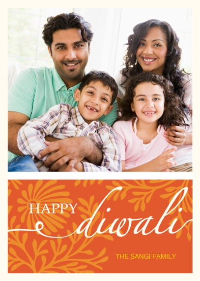 Diwali Cards 5x7 Cards, Premium Cardstock 120lb with Rounded Corners, Card & Stationery -Happy Diwali