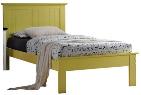 Prentiss Collection 25423F Full Size Bed with Slat System Included  Beadboard Panel Headboard  Low Profile Footboard and Poplar Wood Construction in