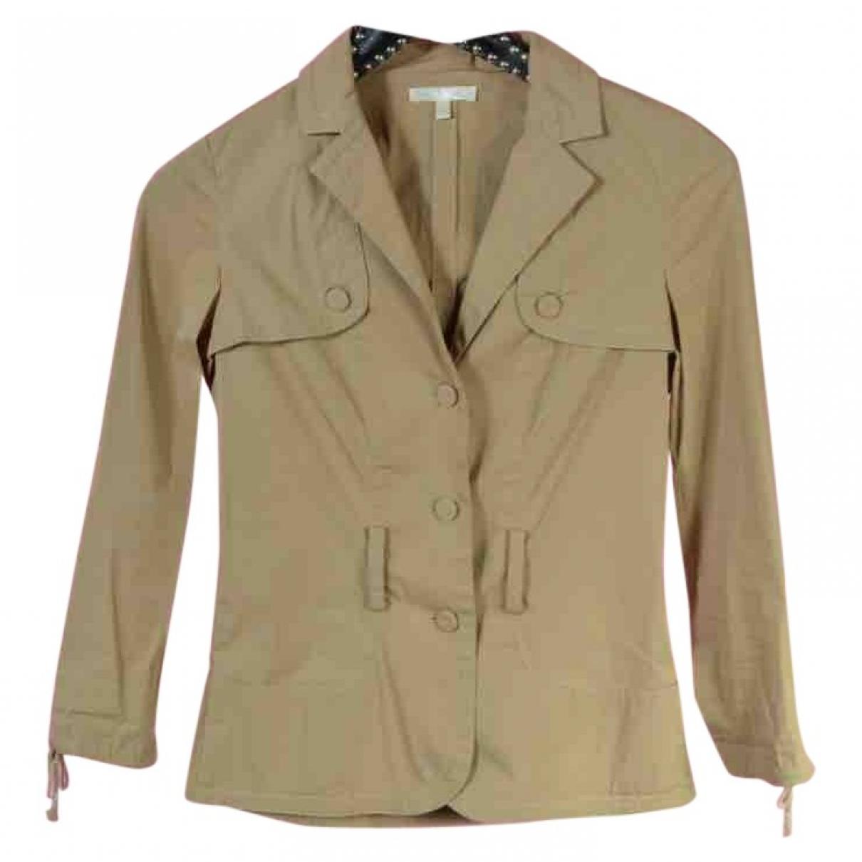 Paule Ka \N Beige Cotton jacket for Women 36 FR