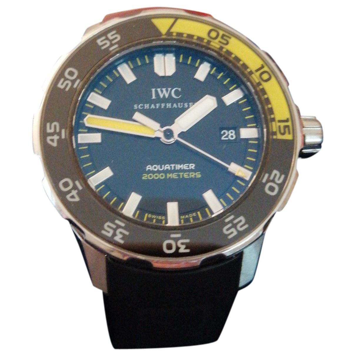 Iwc Aquatimer Black Steel watch for Men \N