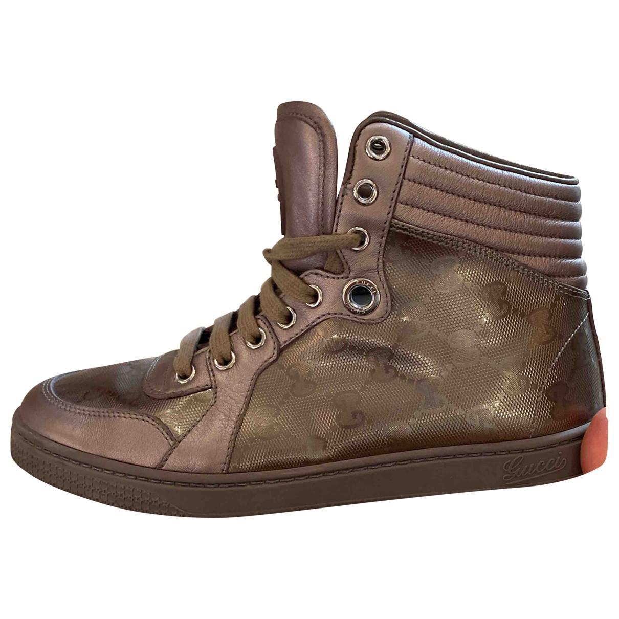 Gucci Gucci Dapper Dan Sneakers in  Metallic Kunststoff