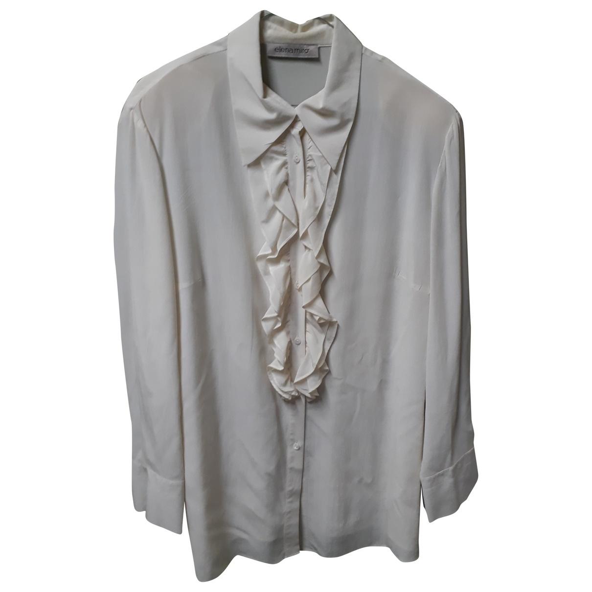 Elena Miro - Veste   pour femme en soie - blanc