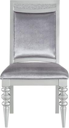Maverick Collection 61802 Side Chair (Set-2)  Armless  Padded Seat & Back Fabric  in Platinum