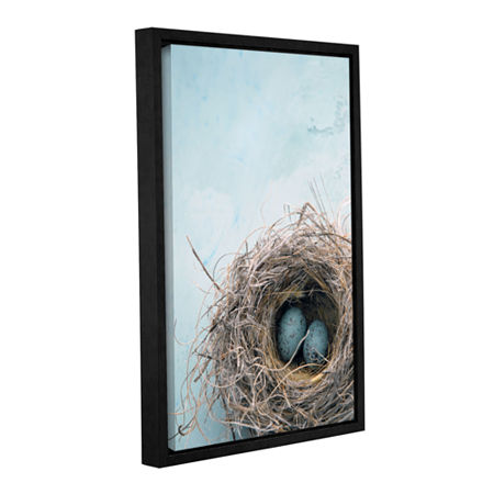 Blue Nest Gallery Wrapped Floater-Framed Canvas Wall Art, One Size , Blue