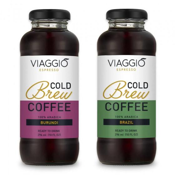 """Kalt gebruehter Kaffee Viaggio Espresso """"Cold Brew Burundi + Brazail"""", 592 ml"""