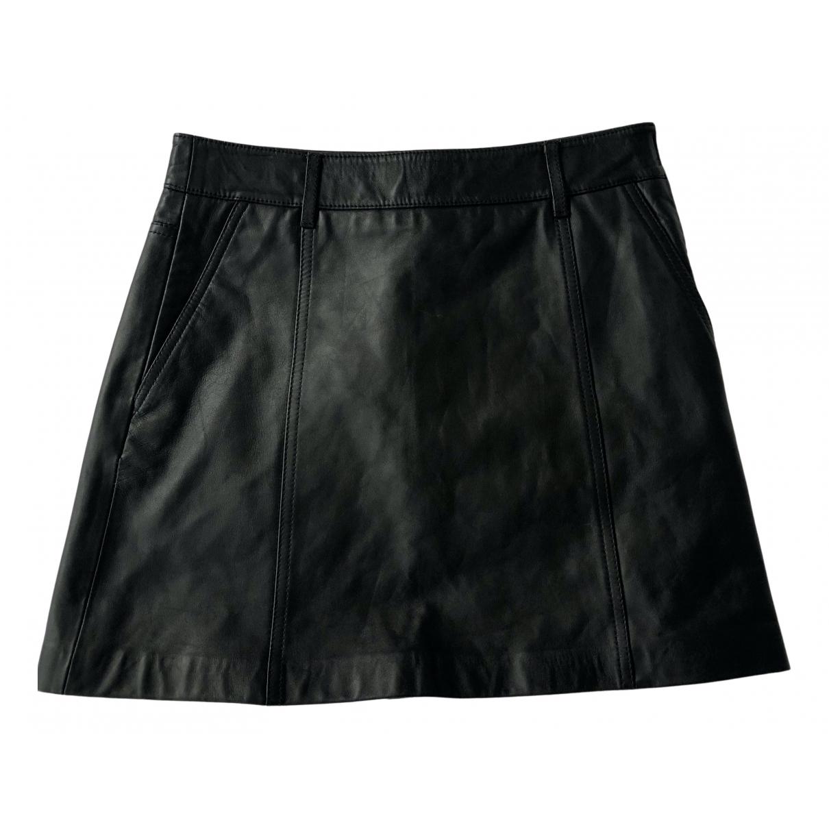 Mini falda de Cuero Reiss