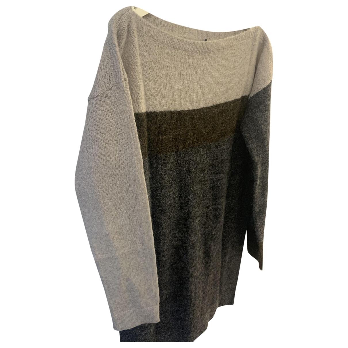 Balenciaga \N Kleid in  Grau Polyester