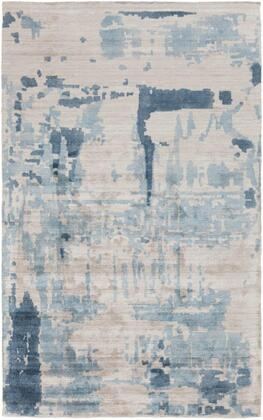SIL7002-810 8' x 10' Rug  in Light Gray and Charcoal and Medium Gray and