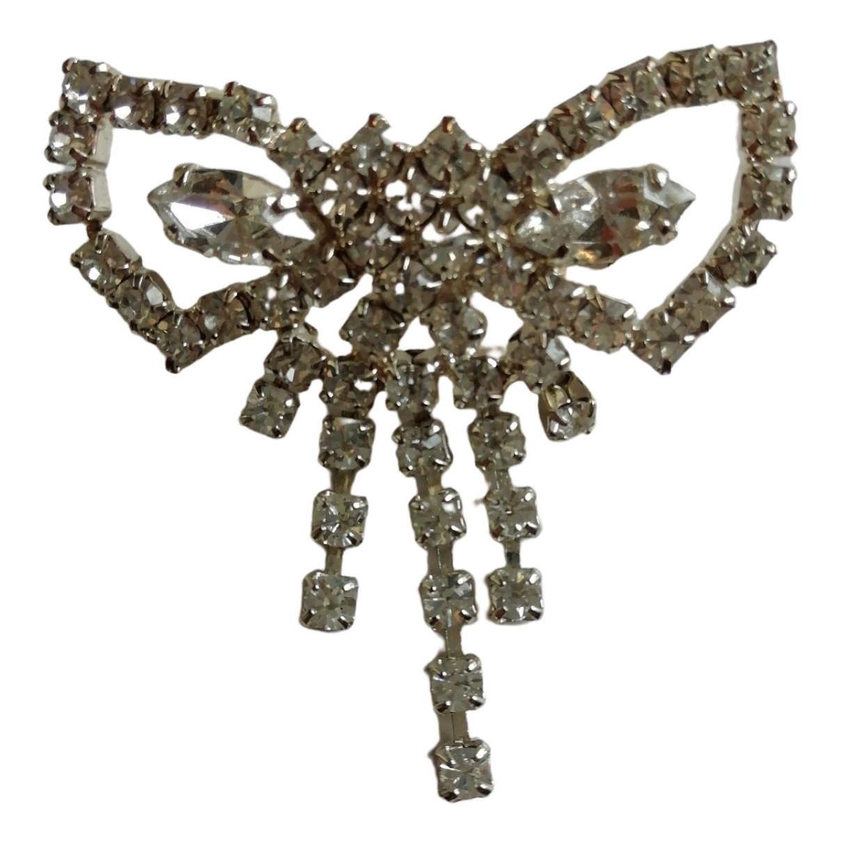 Non Signé / Unsigned \N White Metal Pins & brooches for Women \N