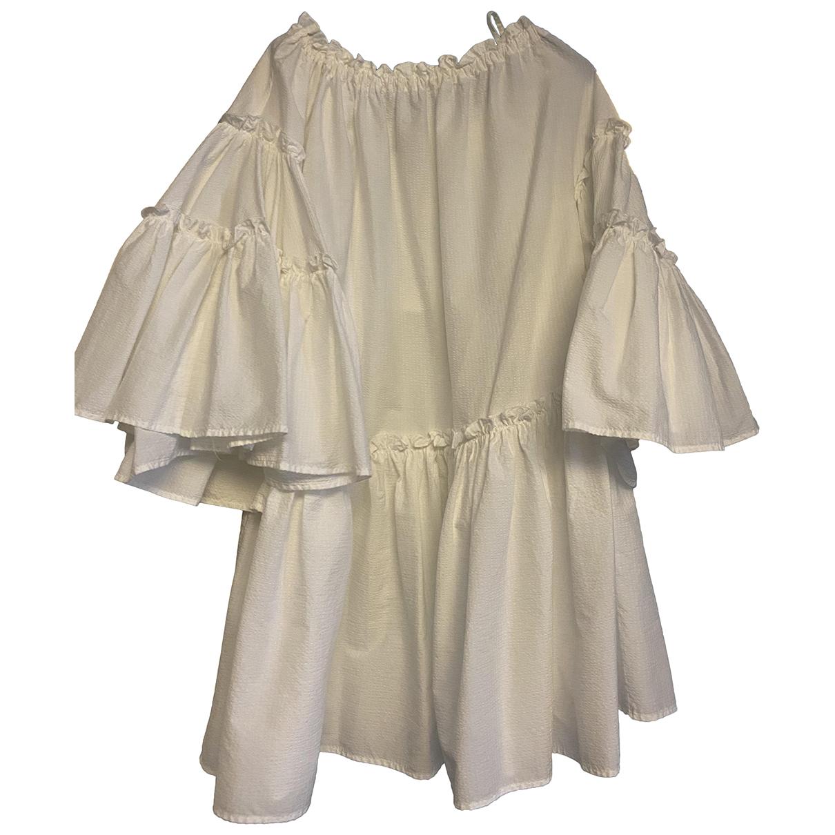 Msgm - Robe   pour femme en coton - blanc