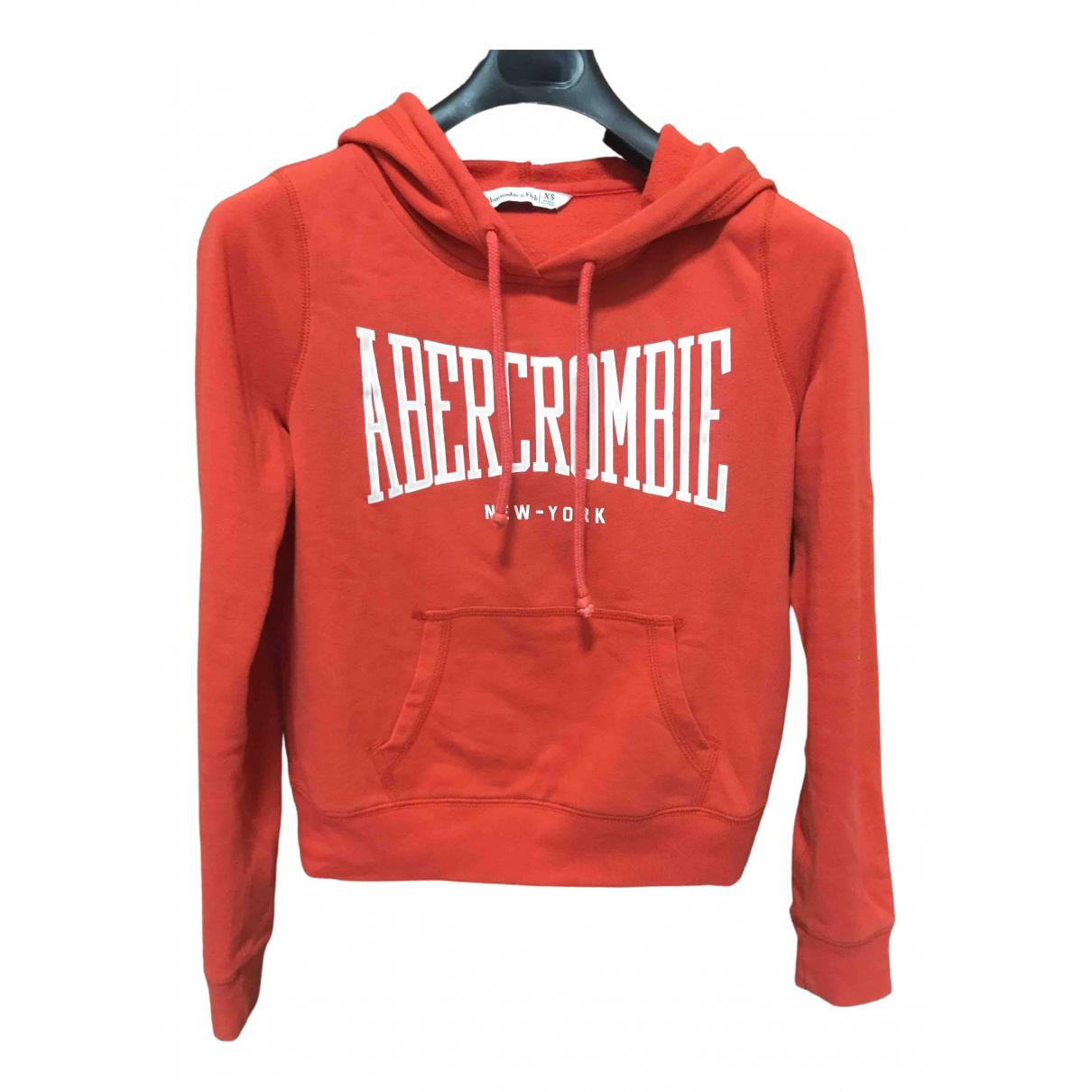 Abercrombie & Fitch - Pull   pour femme en coton - rouge