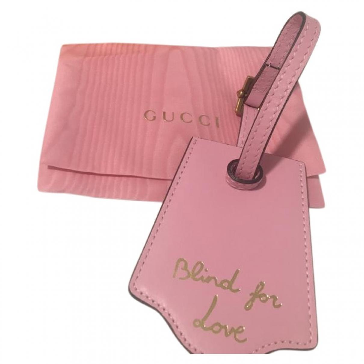 Gucci - Petite maroquinerie   pour femme en cuir - rose