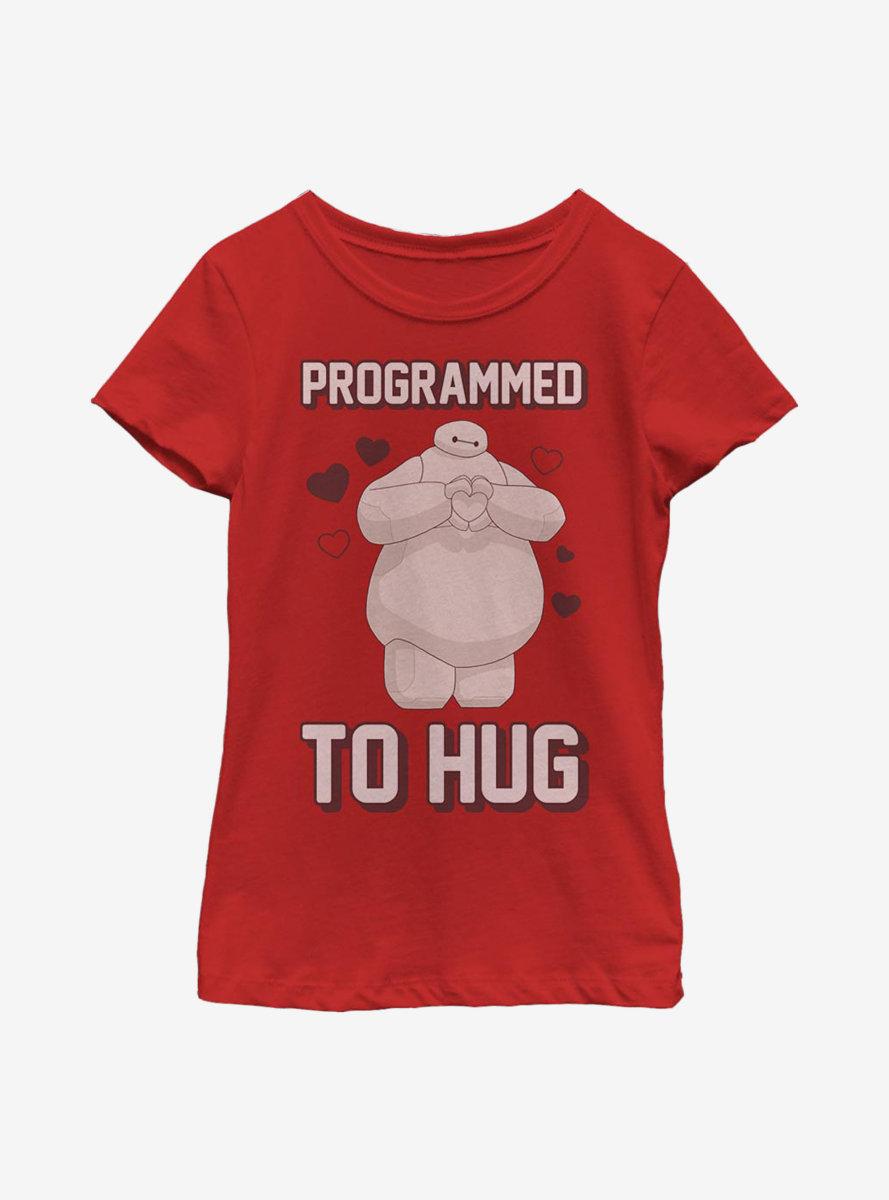 Disney Big Hero 6 Baymax Programmed To Hug Youth Girls T-Shirt