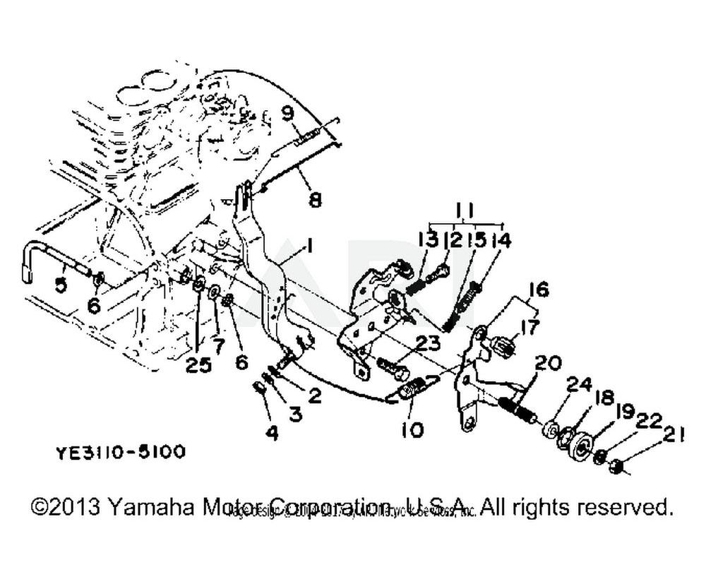 Yamaha OEM YF1-39015-61-14 LEVER, GOVERNOR