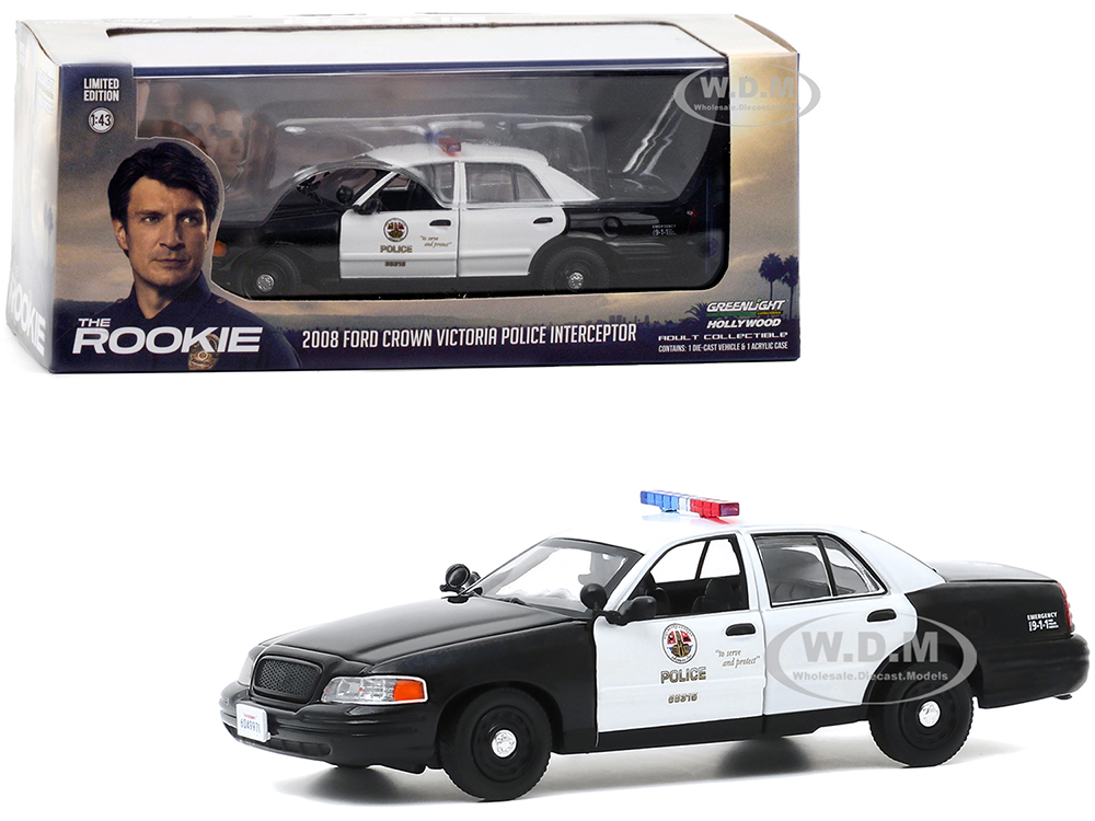 2008 Ford Crown Victoria Police Interceptor White and Black