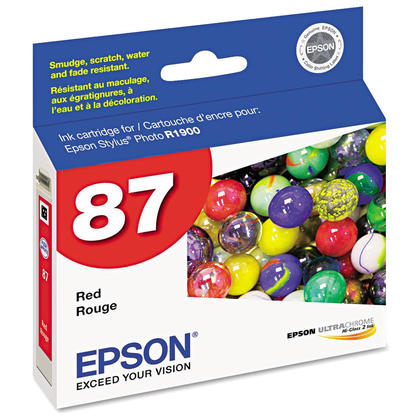 Epson T087720 Original Red Ink Cartridge