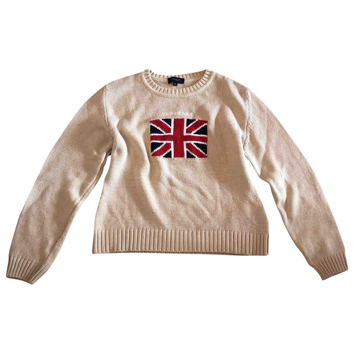 Burberry \N Beige Cotton Knitwear for Women L International