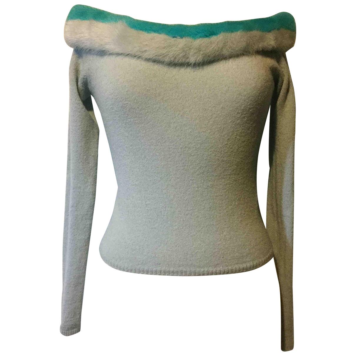 Blumarine \N Turquoise Wool Knitwear for Women 42 IT
