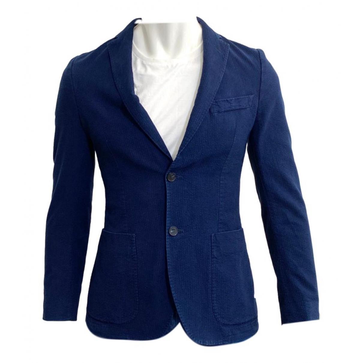 Officine Generale - Vestes.Blousons   pour homme en coton - bleu